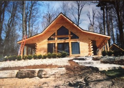 Construction of cabin on Zerons in 2004