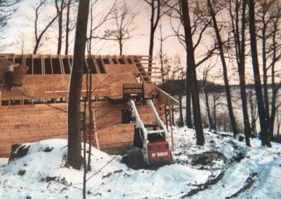 Building Zerons cabin in 2004