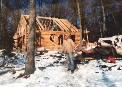 Chad and construction of Zerons Cabin 2004