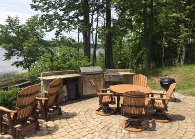 Patio BBQ area at Zerons Island